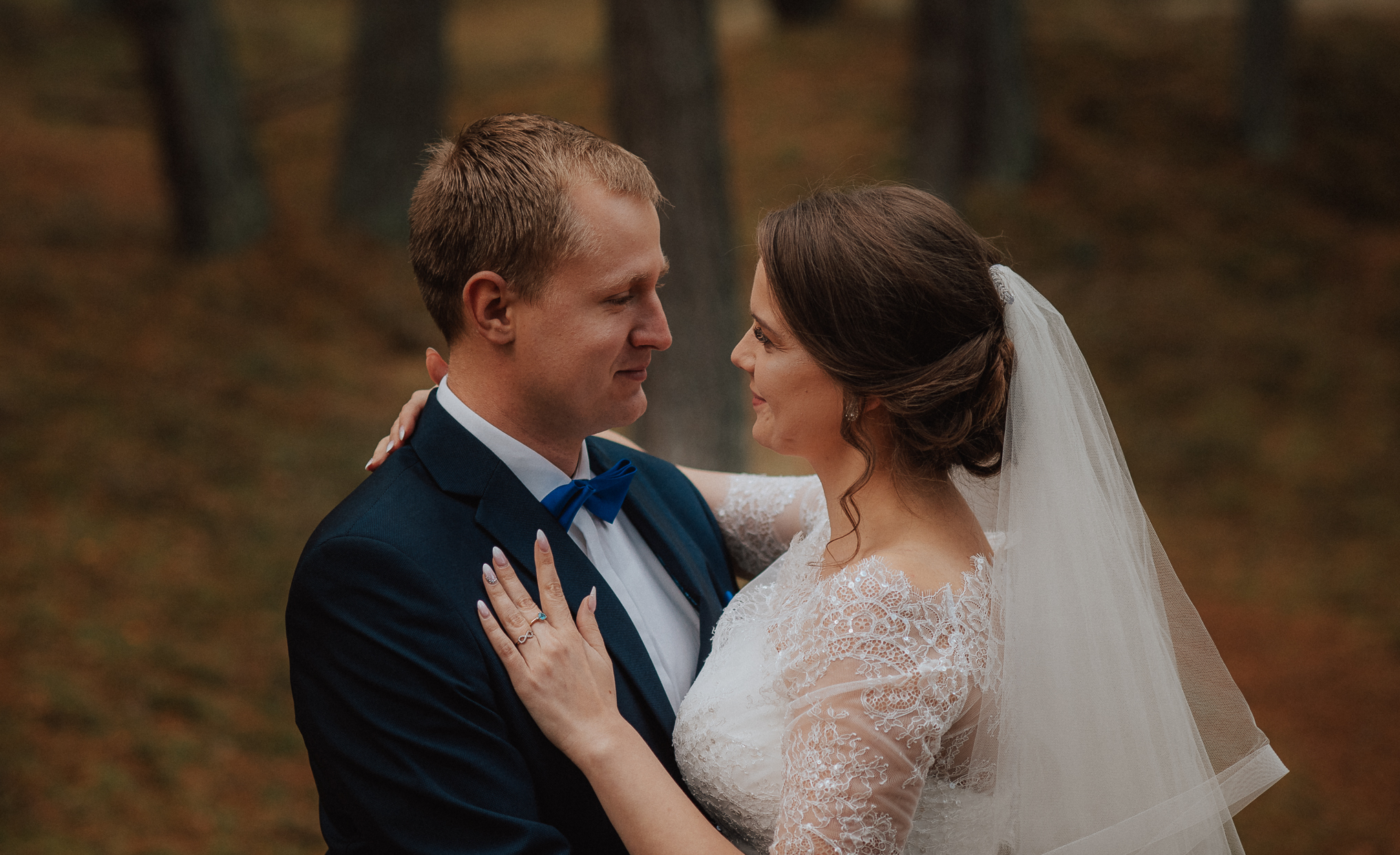 Leśna sesja ślubna 1